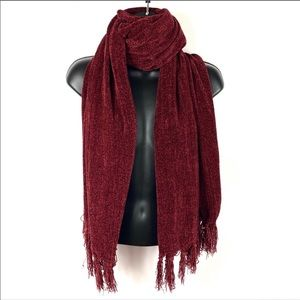 Red scarf wrap